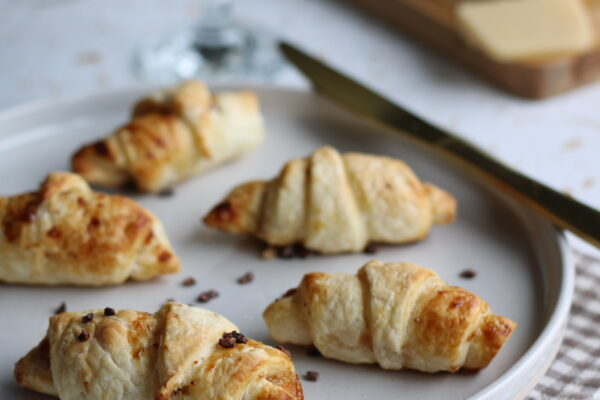 Mini croissantjes met marsepein
