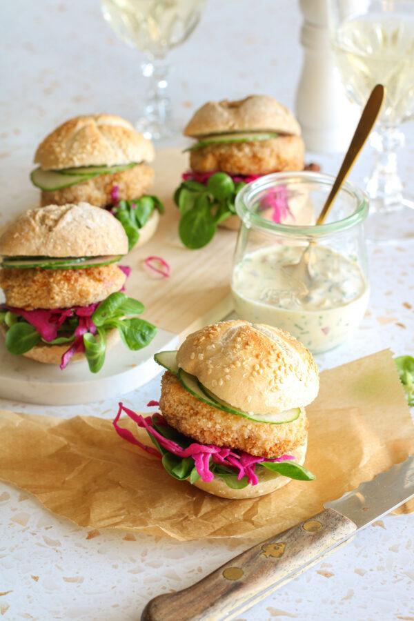 Mini fishburger met verse tartaarsaus